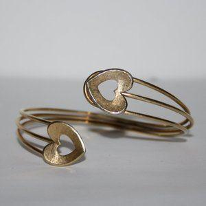 Beautiful gold heart cuff bracelet